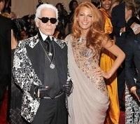 Met Gala Blake Lively Karl Lagerfeld