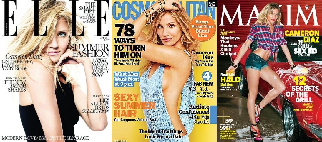 "cameron diaz cosmopolitan cover 2011. Cameron Diaz Wins June ""Cover"