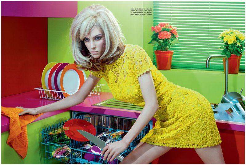 Ruby Aldridge by Miles Adlridge for Vogue Italia