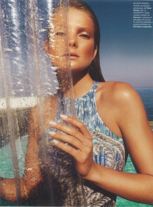 1bfc2e8ccc Eniko Mihalik Sizzles in Spring's Shiniest Styles, Shot by Nico