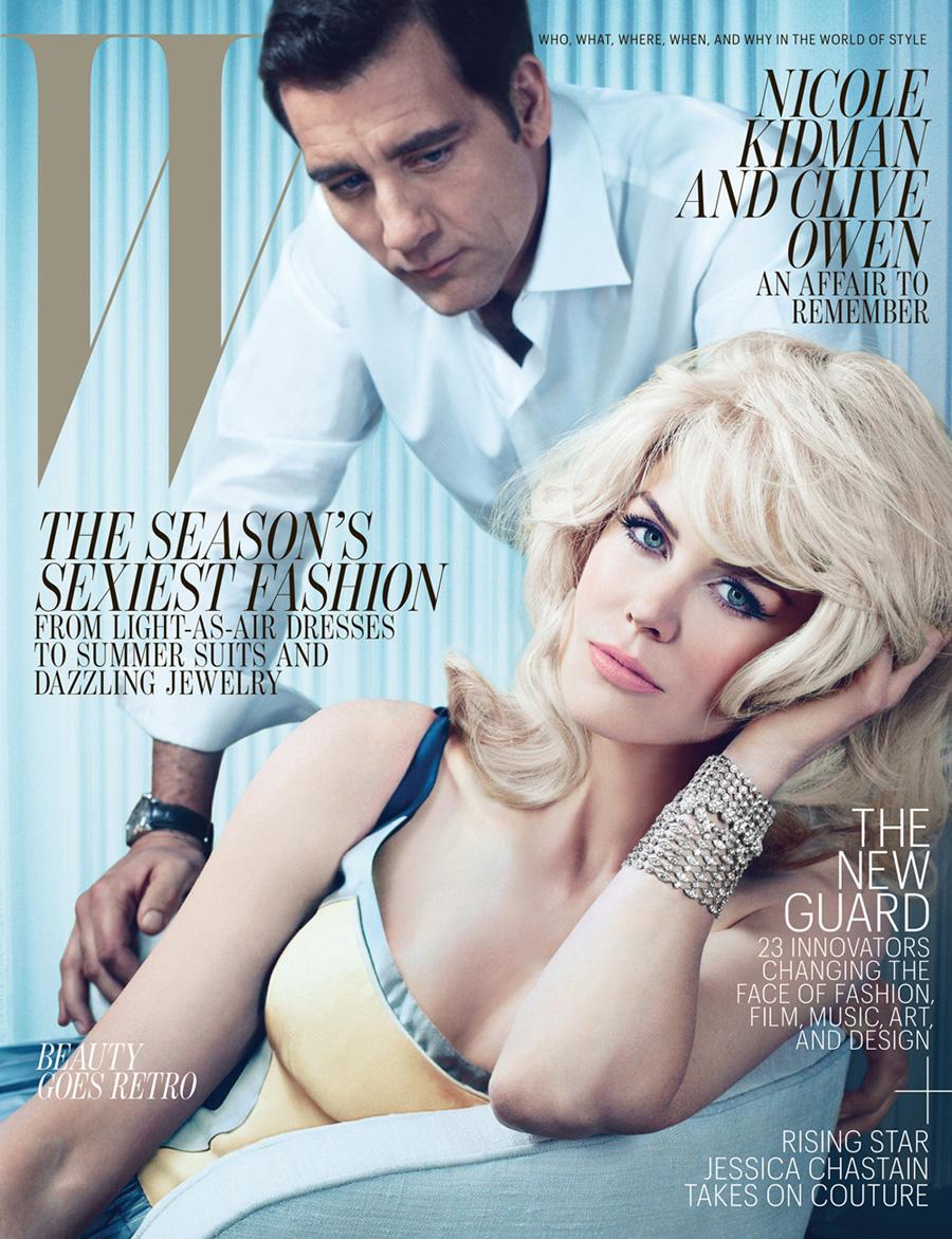 NIcole Kidman & Clive Owen Cover W Magazine