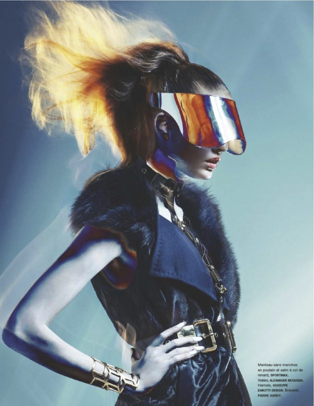 Nadja Bender Electric Lady By Sebastian Kim For Numero 1