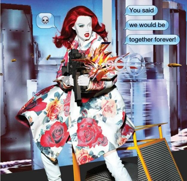 'Text Talk' A Stylish Parody By Nick Knight For Garage