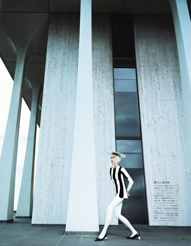 AymelineValadein'AGraphicStudy'byEmmaSummertonVogueJapan