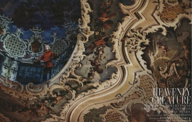 CaraDelevingnein'HeavenlyCreature'byMikaelJanssonforWMagazine