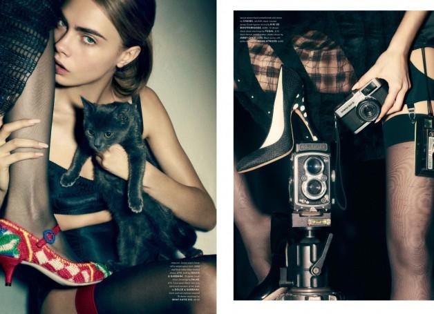 Edie Campbell,CaraDelevingne,Janice Alida'Cat'byLizCollinsLoveMagazine