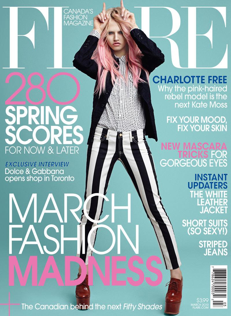 Charlotte Free Cover Flare Magazine