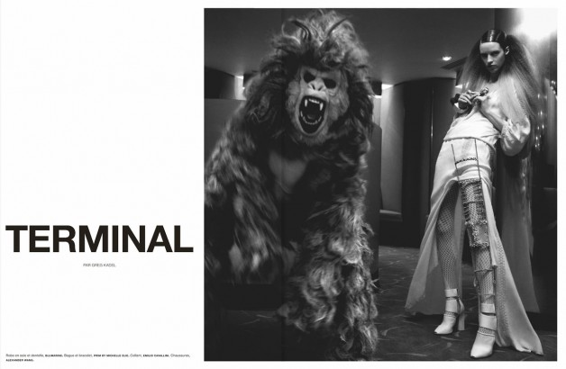 Julia Frauche in 'Terminal' by Greg Kadel for Numero #141