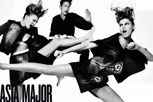 Edita Vilkeviciute in 'Asia Major' by Mario Testino V Magazine