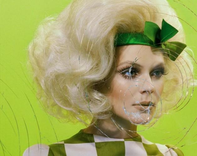 Kinga Rajzak in 'Mannequin Thriller' by Miles Aldridge for Vogue Italia