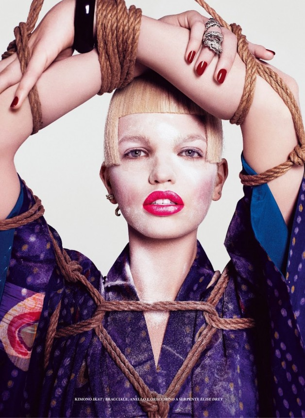 DAPHNE GROENEVELD IN 'THE GEISHA' BY PAOLA KUDACKI FOR FLAIR SPRING 2013