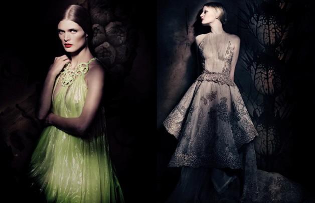 Mariacarla Boscono, Guinevere Van Seenus & Malgosia Bela 'Couture Allure' Paolo Roversi Vogue Italia