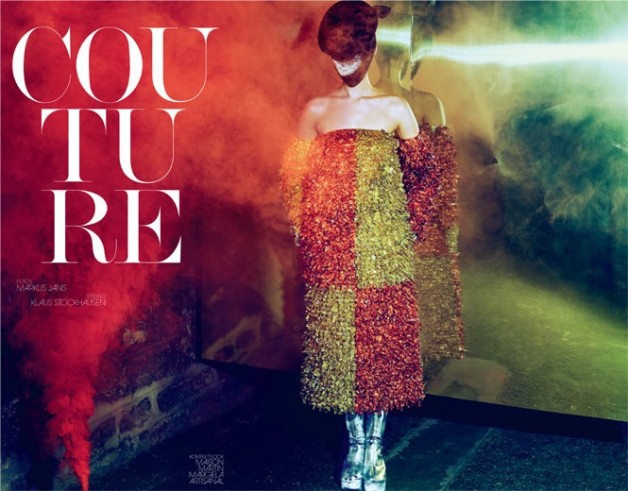 Franzi Mueller in 'Couture' by Markus Jans for Interview Germany