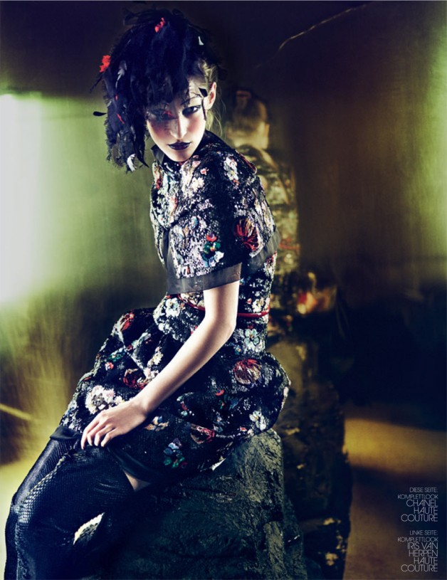 Franzi Mueller in 'Couture' by Markus Jans by Interview Germany