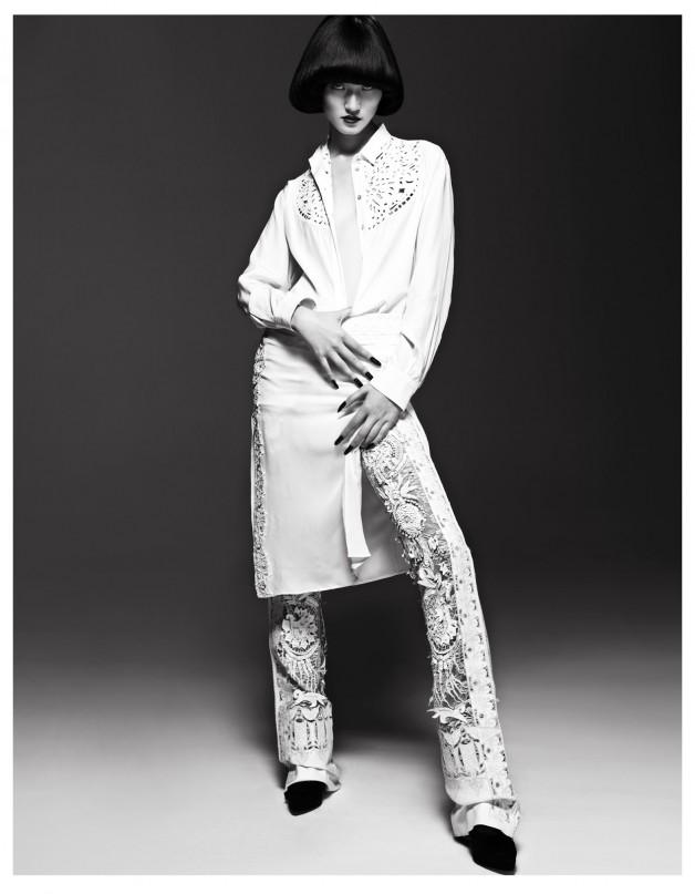 Lina Zhang by Yin Chao (The Gentle Woman - Harper's Bazaar China April 2013) 1