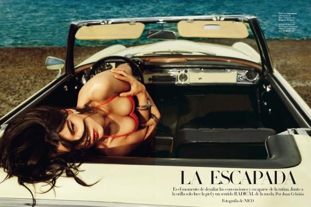 Crystal Renn by Nico Harpers Bazaar Spain