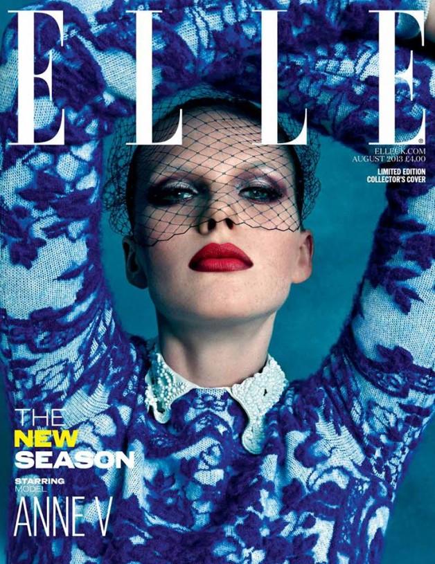 Anne Vyalitsyna for Elle UK Aug 2013