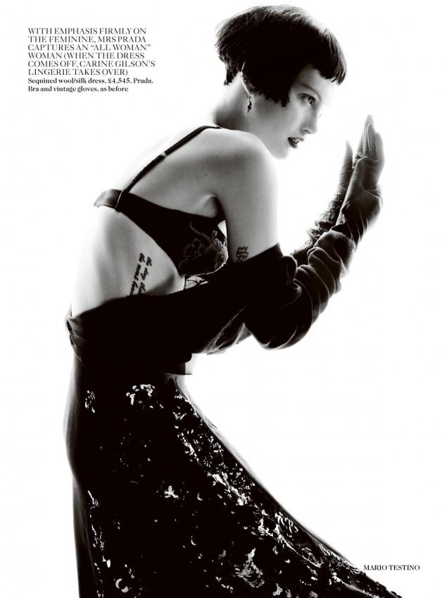 Catherine McNeil 'Prima Donna' by Mario Testino Vogue UK 14
