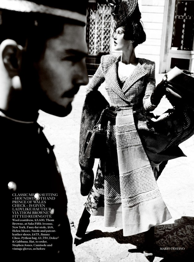 Catherine McNeil 'Prima Donna' by Mario Testino Vogue UK 2