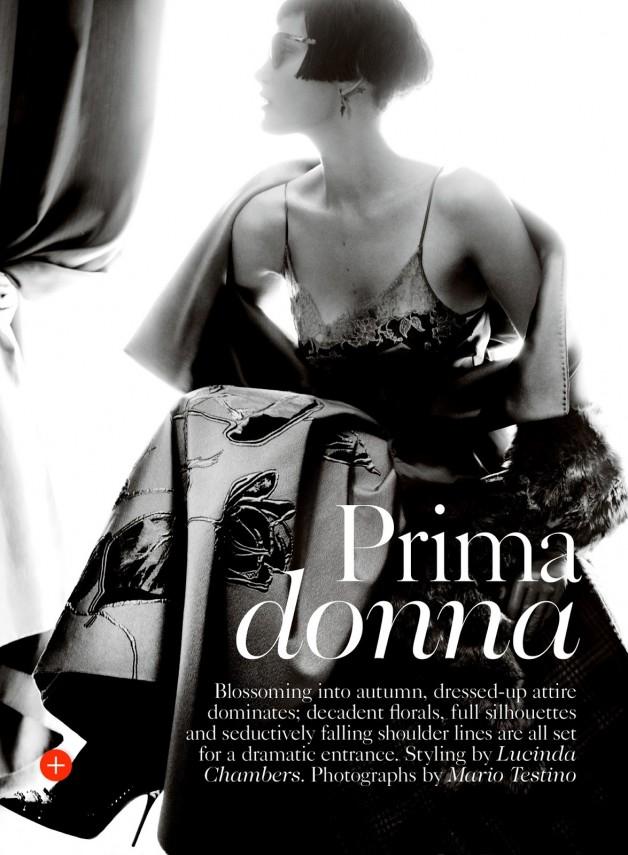 Catherine McNeil 'Prima Donna' by Mario Testino Vogue UK