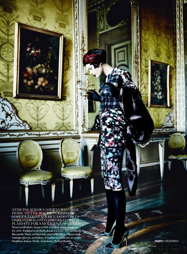 Catherine McNeil 'Prima Donna' by Mario Testino Vogue UK 9