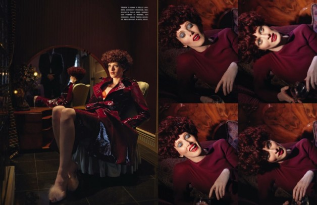 karen elson ever changing lady vogue italia 3