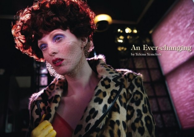 karen elson ever changing lady vogue italia 4