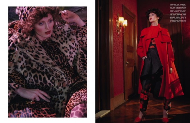 karen elson ever changing lady vogue italia 7