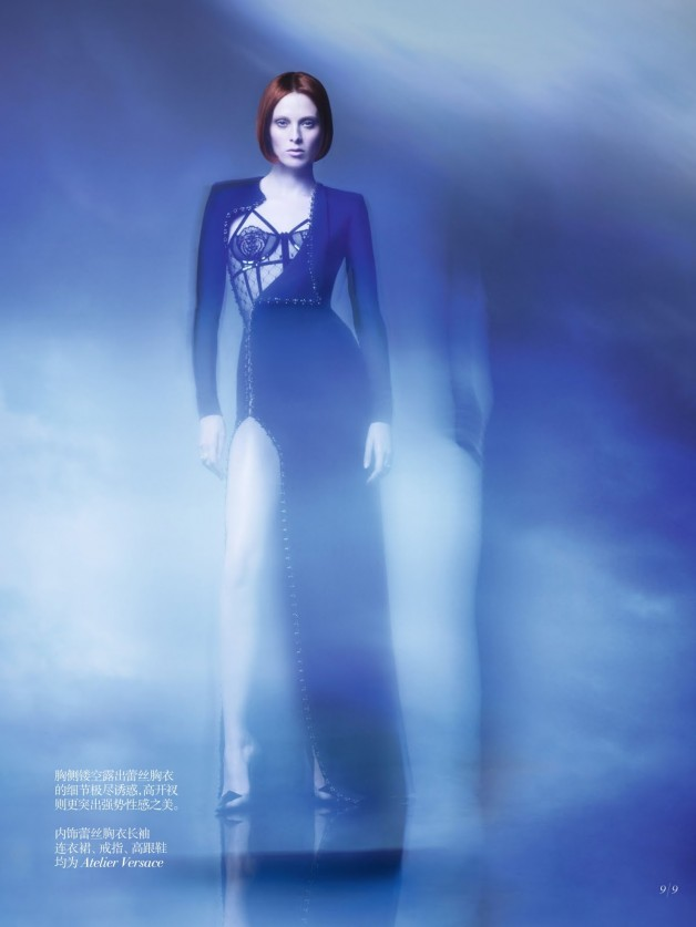 Karen Elson Shadow Dream Vogue China Collections 12