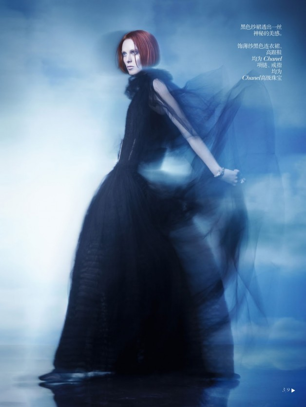 Karen Elson Shadow Dream Vogue China Collections 3