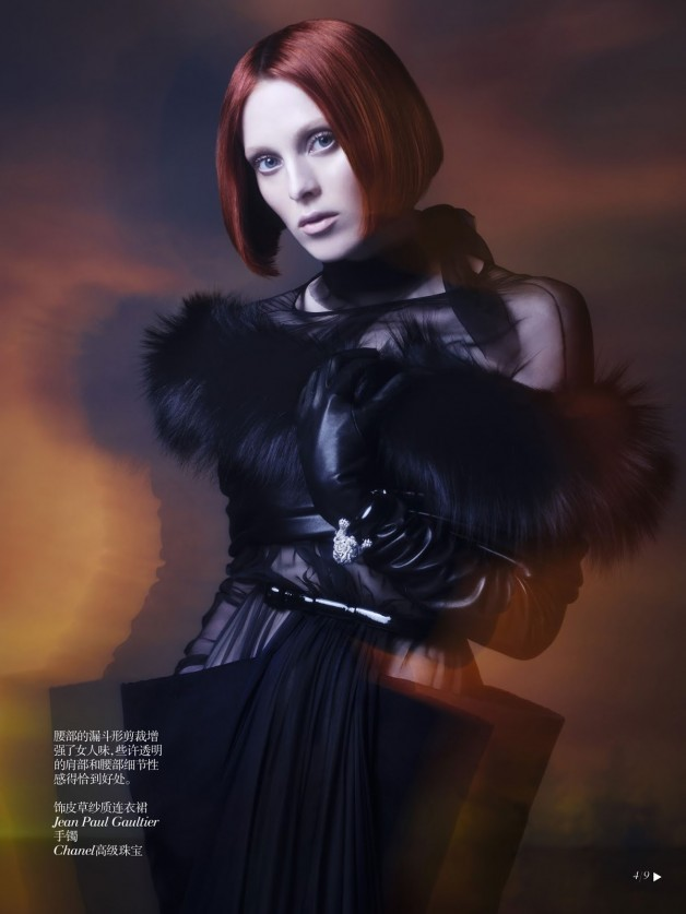 Karen Elson Shadow Dream Vogue China Collections 4