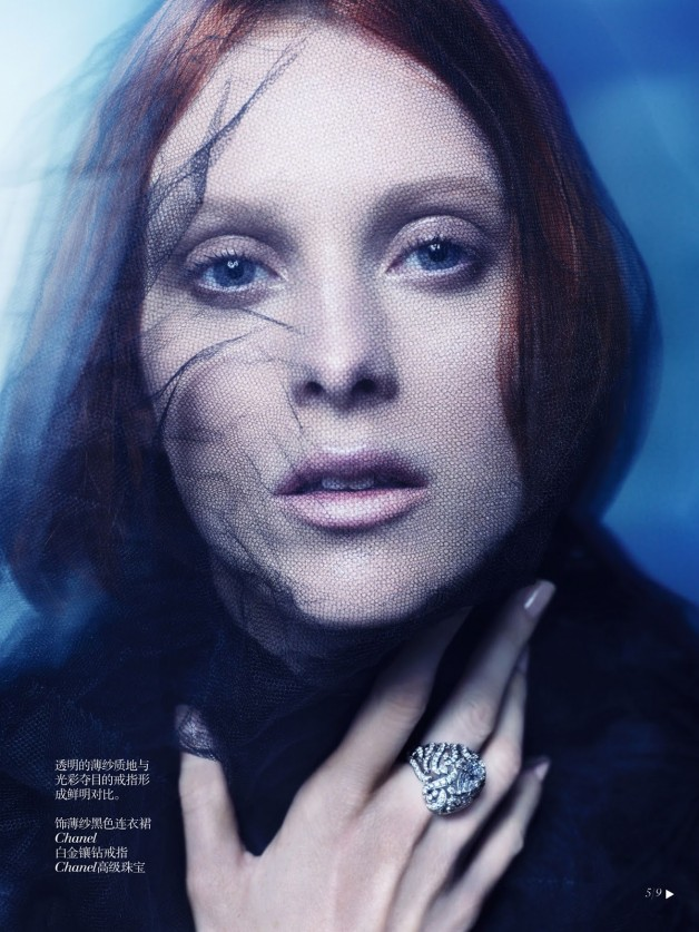 Karen Elson Shadow Dream Vogue China Collections 5