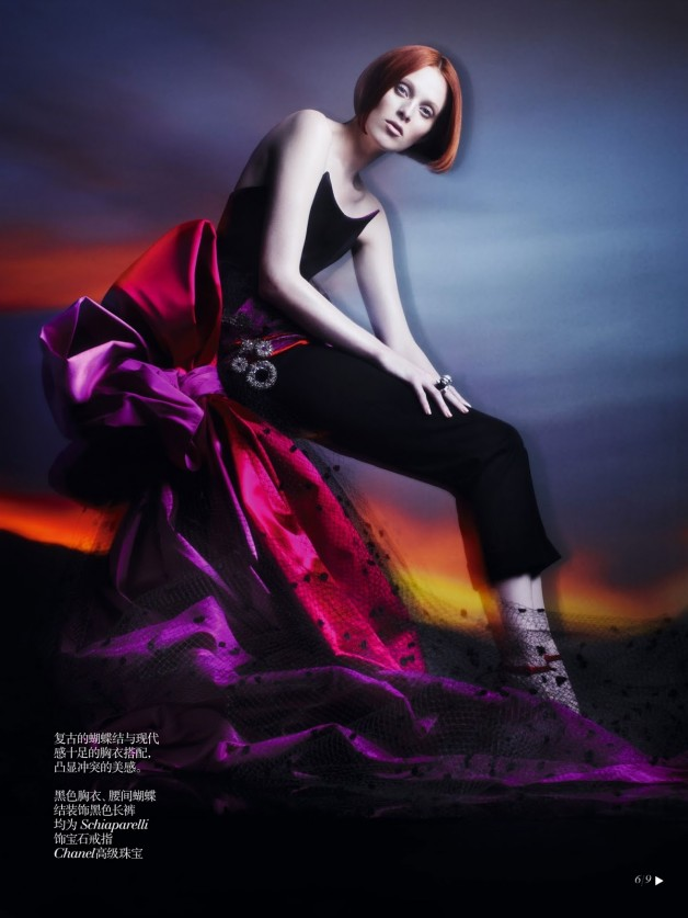 Karen Elson Shadow Dream Vogue China Collections 8