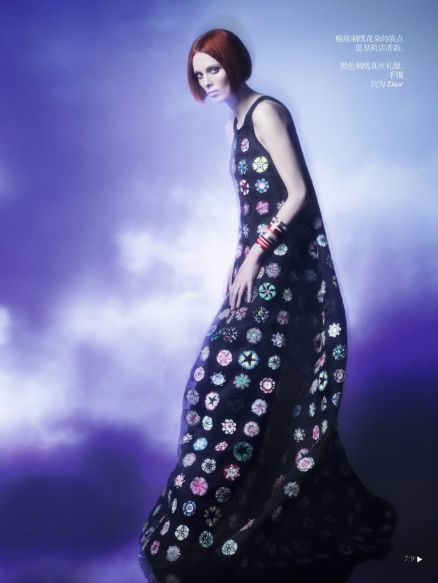 Karen Elson Shadow Dream Vogue China Collections 9