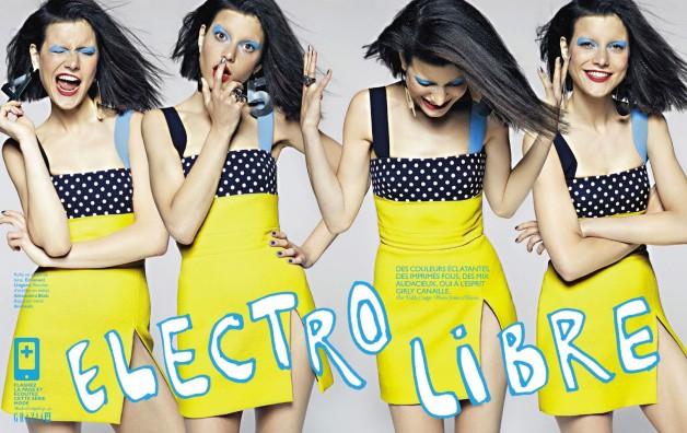 Tatiana Cotliar in Electro Libre By James Macari For Grazia France 1