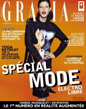 Tatiana Cotliar in Electro Libre By James Macari For Grazia France Cover