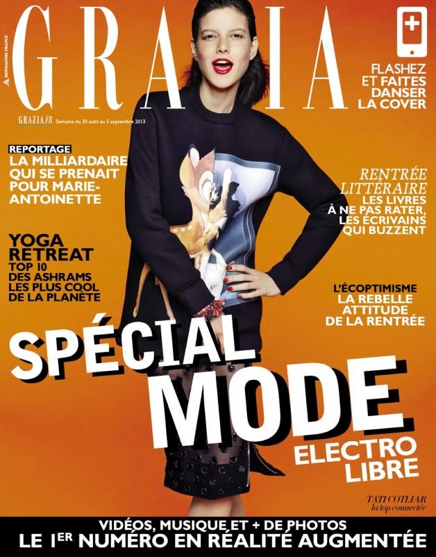 Tatiana Cotliar in Electro Libre By James Macari For Grazia France Cover