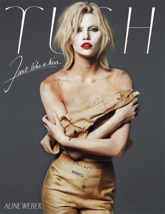 aline weber by txema yeste tush magazine cover