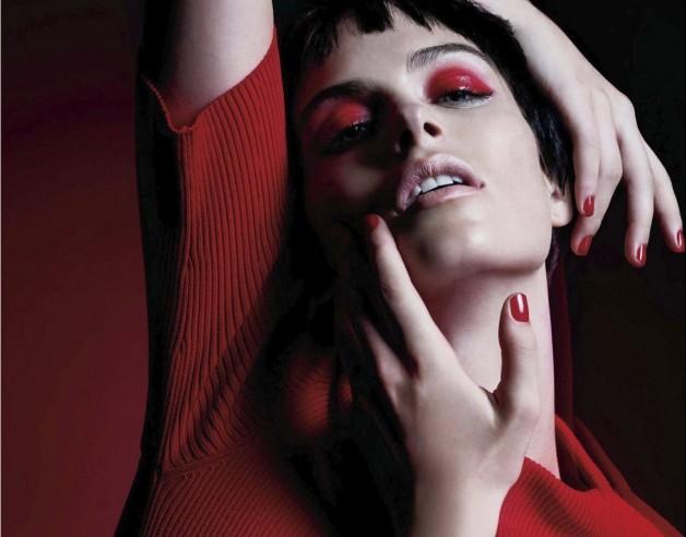 Pamela Bernier in 'Red' by Leda & St.Jacques For Elle Canada 11