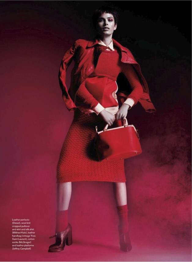 Pamela Bernier in 'Red' by Leda & St.Jacques For Elle Canada 14