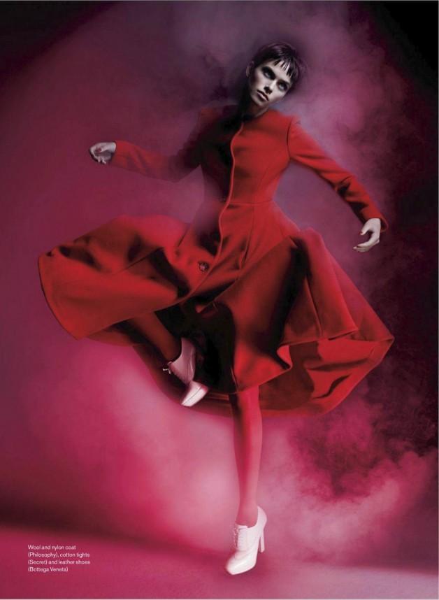 Pamela Bernier in 'Red' by Leda & St.Jacques For Elle Canada 2