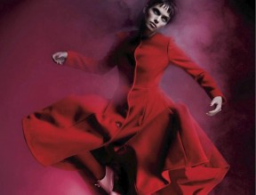 Pamela Bernier in 'Red' by Leda & St.Jacques For Elle Canada 2