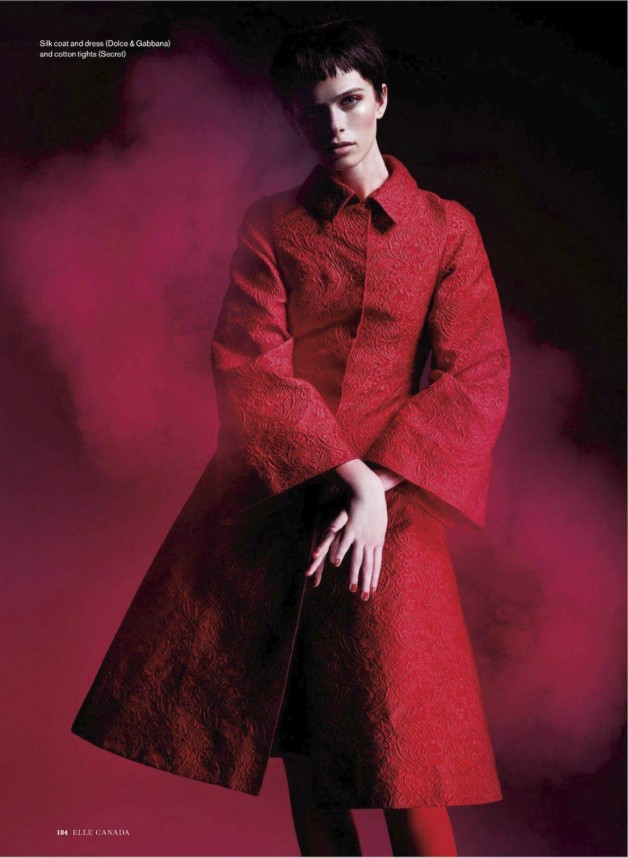 Pamela Bernier in 'Red' by Leda & St.Jacques For Elle Canada 5