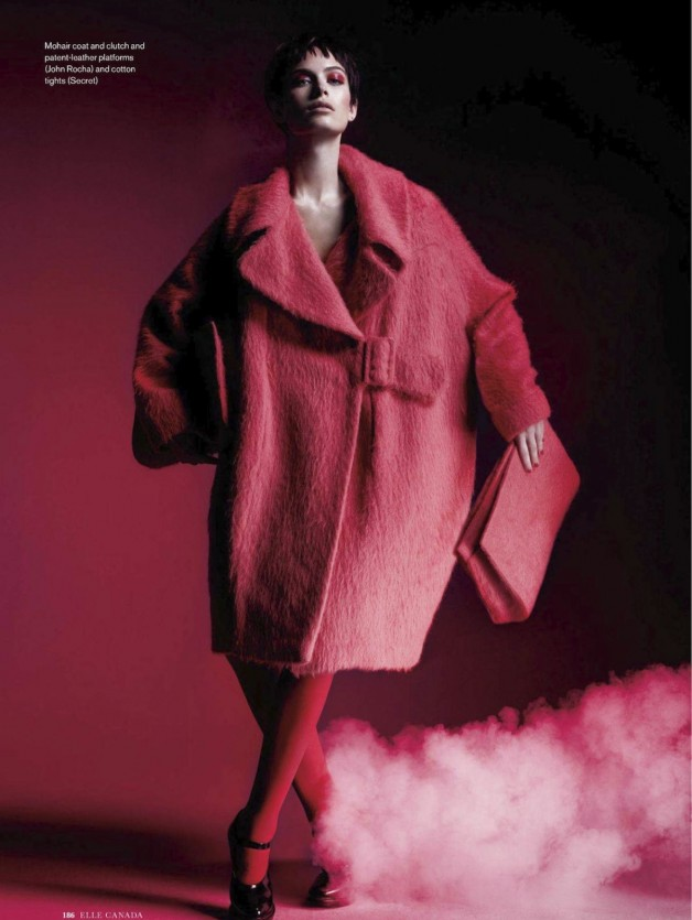 Pamela Bernier in 'Red' by Leda & St.Jacques For Elle Canada 8