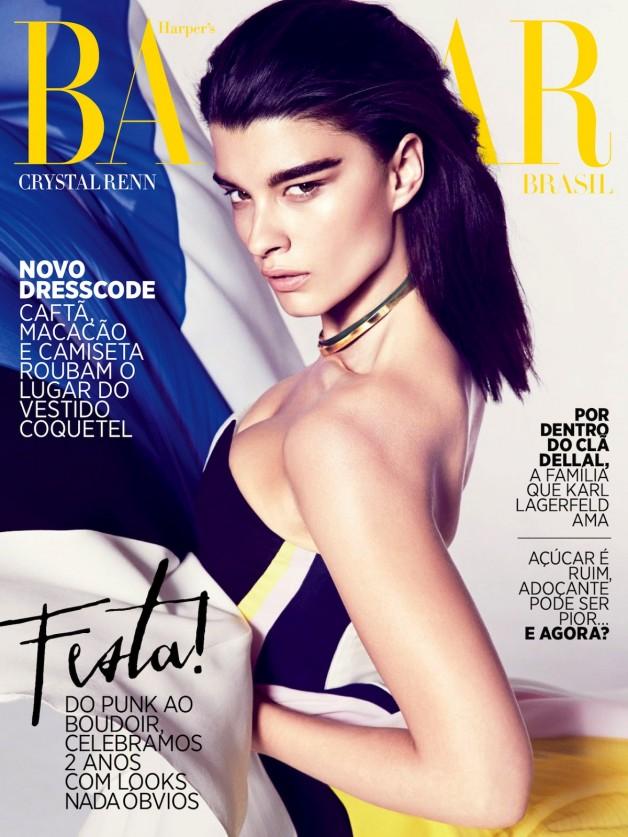 Crystal Renn By Dusan Reljin For Harper's Bazaar Brasil