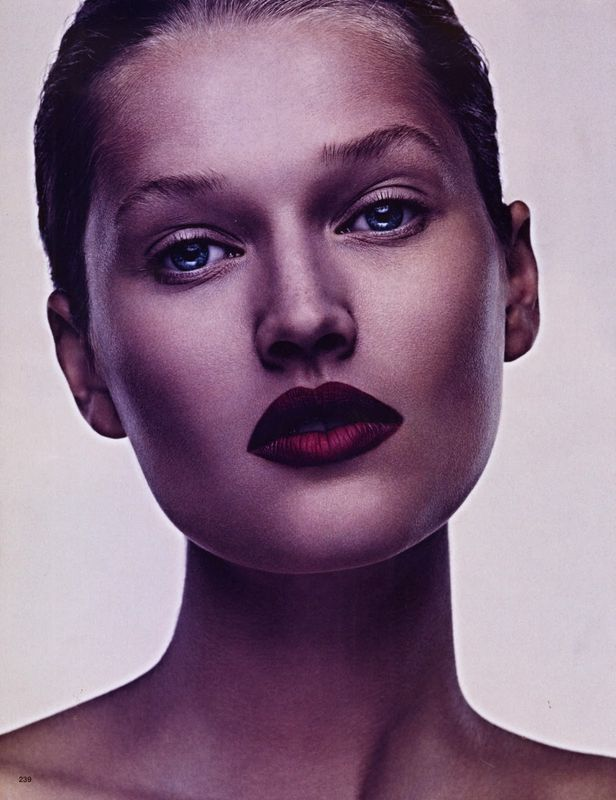 toni garrn 'dark shades of roses' by ben hasset for vogue japan beauty