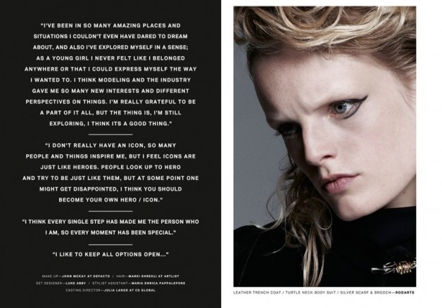 Hanne Gaby Odiele Poses for Lurve Magazine #8 o4