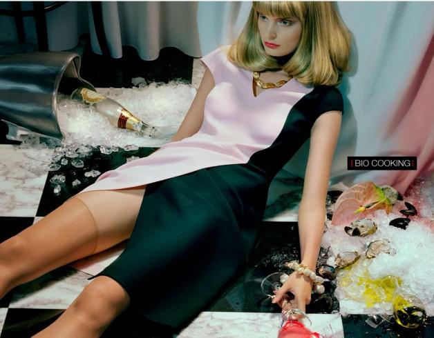 Melissa Tammerijn by Miles Aldridge for Vogue Beauty 1