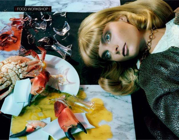 Melissa Tammerijn by Miles Aldridge for Vogue Beauty 2