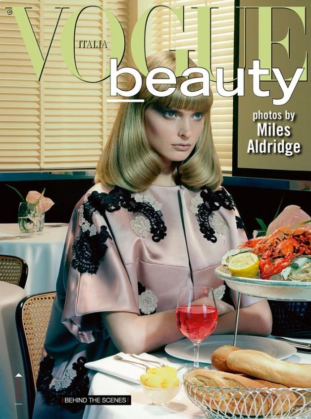 miles aldridge vogue italia cover december 2013